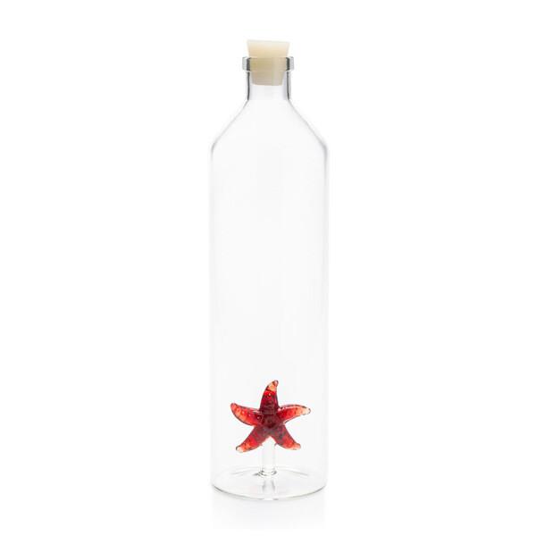 Balvi starfish glazen waterfles 1,2 L