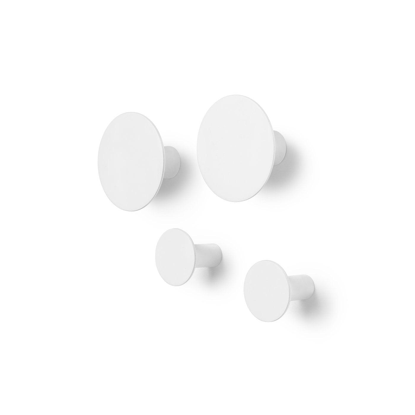 Blomus Ponto kapstokhaken set van 4 Lily white