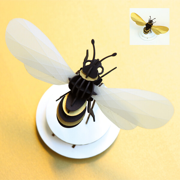 Assembli Honey Bee 3D insect satijngoud