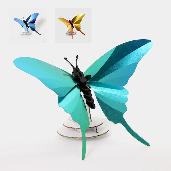 Assembli Swordtail butterfly 3D insect