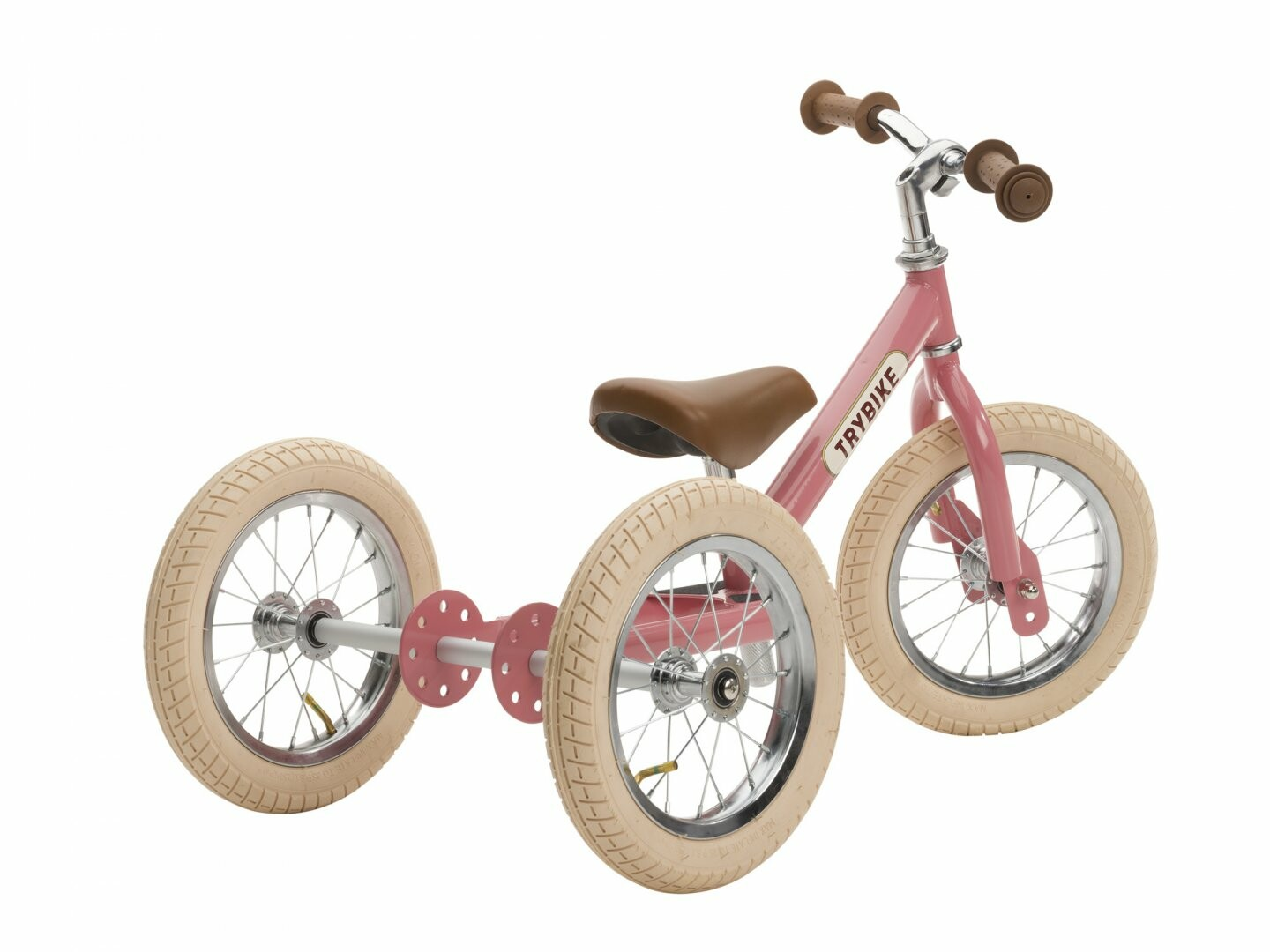 Trybike Steel 2 in 1 loopfiets jaipur pink