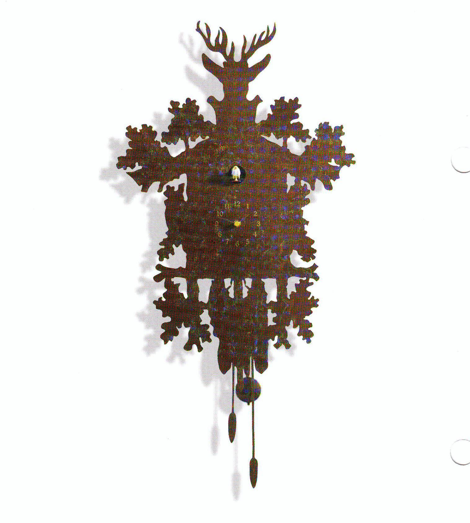 Decoratieve koekoeksklok puntdak zwart klok werkt niet overige merken in de aanbieding kopen - Koekoeksklok diamantini ...