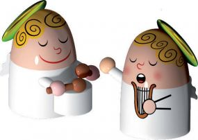 Alessi kerstfiguren Angels Band set 3