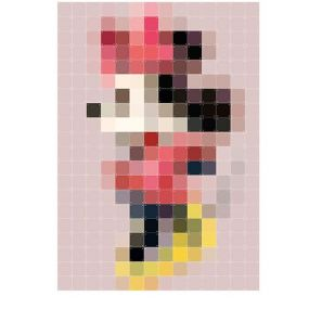 IXXI PIXEL Minnie Mouse wanddecoratie