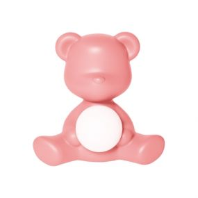 Qeeboo Teddy Girl outdoor oplaadbare LED lamp bright pink