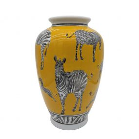 Loco Lama vaas zebra geel