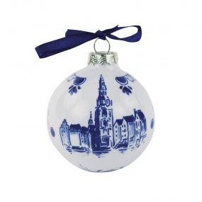 Royal Delft Kerstbal Amsterdam 7 cm