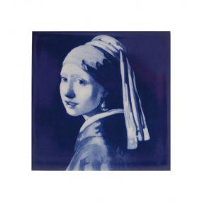 Royal Delft tegel Vermeer Meisje met de parel