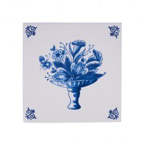 Royal Delft tegel bloemenmand 07437802