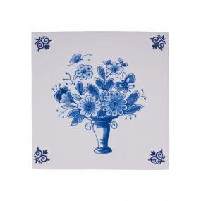 Royal Delft tegel bloemenmand 07437805