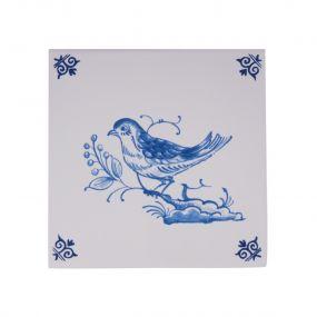Royal Delft tegel vogel 07470103
