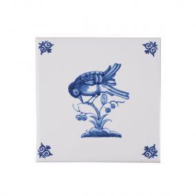 Royal Delft tegel vogel 07470105