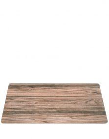 Leonardo placemat kurk  met hout dessin