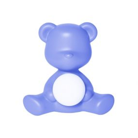 Qeeboo Teddy Girl outdoor oplaadbare LED lamp licht blauw