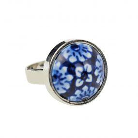 Royal Delft Ring bloem 16 mm