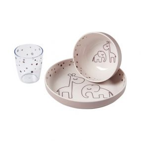 Done by Deer mini diner set Dreamy Dots roze