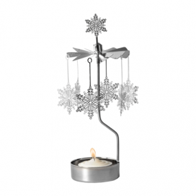 Rotary candleholder Snow Star