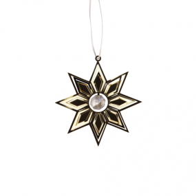 Pluto Deco star crystal