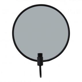 Housevitamin kaarshouder met spiegel rond zwart