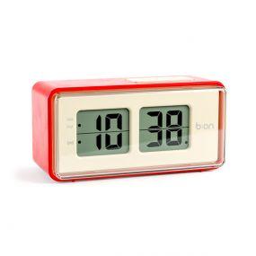 Balvi Flip klok LCD rood