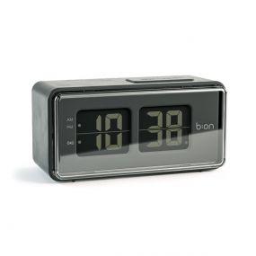 Balvi Flip klok LCD grijs