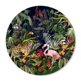 GM Decoratie muurcirkel Jungle