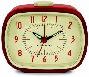 Kikkerland retro alarm clock wekker rood