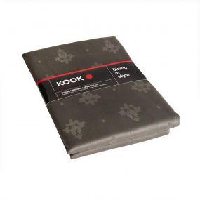 KOOK Tafelkleed Damast Polyester Antraciet 140/240