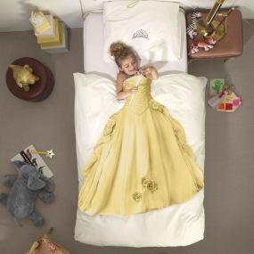 Snurk Prinses dekbedovertrek geel