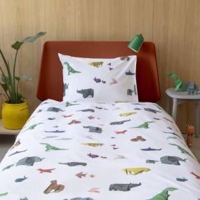 Snurk Paper Zoo dekbedovertrek