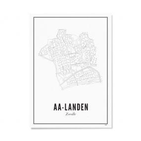 Wijck Zwolle AA Landen poster A3 30 x 40