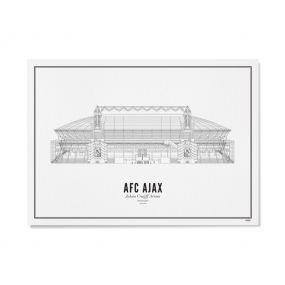 Wijck illustratie Johan Cruijff Arena A3 30 X 40