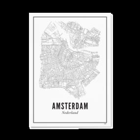 Wijck poster Amsterdam stad A3 30 x 40