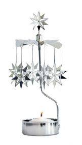 Rotary candleholder 10 point star Pluto