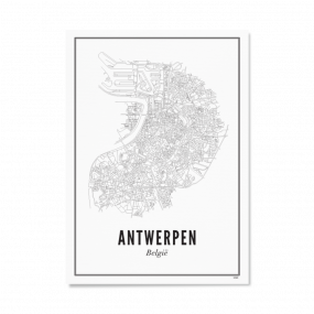 Wijck print stad Leeuwarden A4 21 x 30