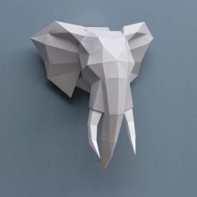 Assembli Olifant paper kit DIY trofee