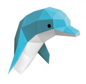 Assembli DIY dierenhoofd papieren Dolfijn