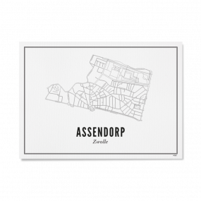 Wijck Zwolle Assendorp poster A3 30 x 40