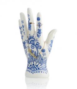 Bitten Henna juwelenhand Delftsblauw