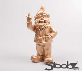 Stoobz F*ck You Tuinkabouter goud 32 cm