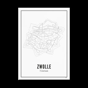 Wijck Zwolle Centrum poster 50 x 70 cm