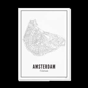 Wijck poster Amsterdam centrum A3 30 x 40
