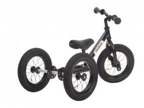 Trybike Steel 2-in-1 loopfiets zwart