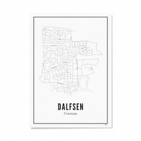 Wijck poster Dalfsen A3 30 x 40