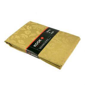 KOOK Tafelkleed 140 x 300 cm Damast Polyester goud