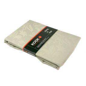 KOOK Tafelkleed 140 x 300 cm Damast Polyester zilver