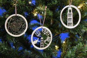 City shapes kerstballen set 3 stuks