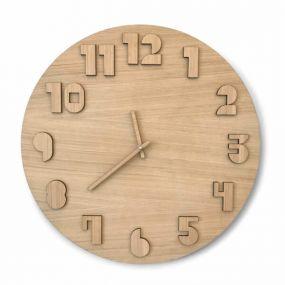 CRE8 eiken houten klok 49 cm