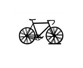 Fabryk houten racefiets op standaard zwart