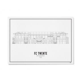Wijck stadion print De Grolsch Veste A4 21 x 30